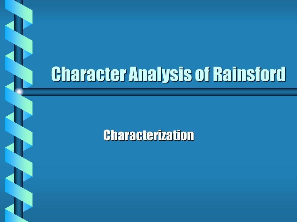Character Analysis of Rainsford Characterization