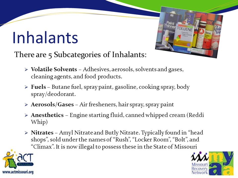 How Are Inhalants Used.