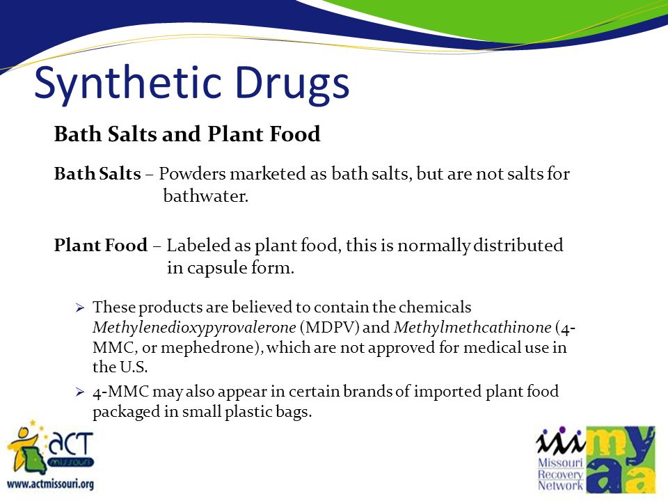Effects of Bath Salts/Plant food When used inappropriately (snorted or smoked) despite their warning labels – the effect is the same as cocaine or meth.