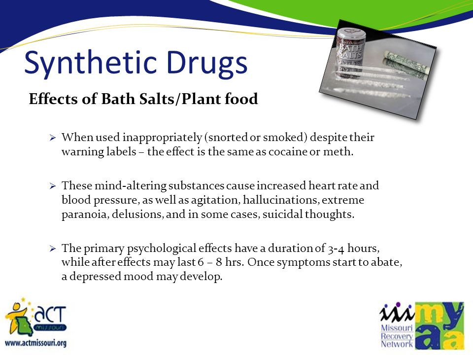 Synthetic drugs dont show in common drug tests.