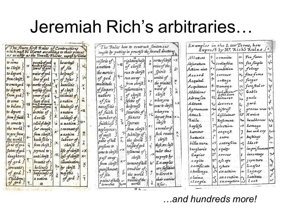 Jeremiah Richs arbitraries… …and hundreds more!