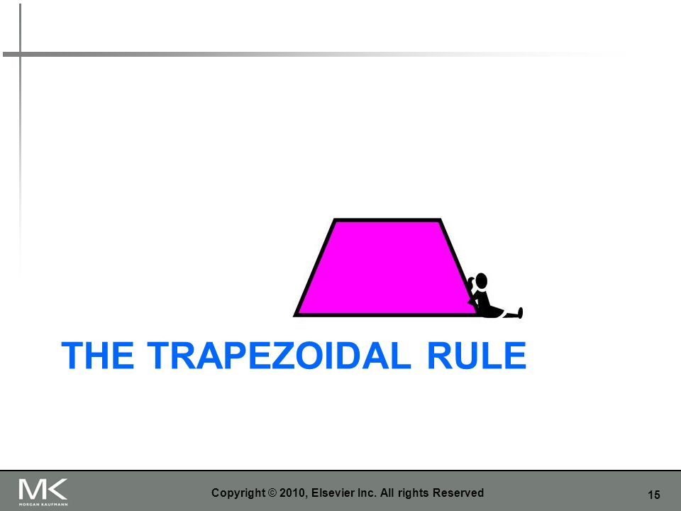 15 THE TRAPEZOIDAL RULE Copyright © 2010, Elsevier Inc. All rights Reserved