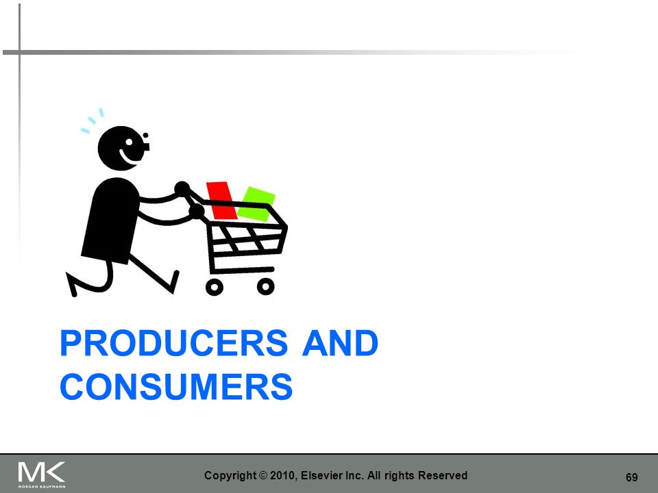 69 PRODUCERS AND CONSUMERS Copyright © 2010, Elsevier Inc. All rights Reserved
