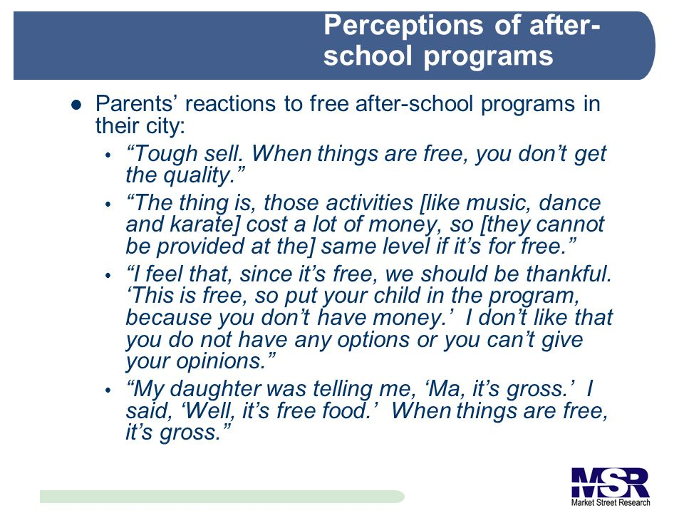 What are the major barriers to parti- cipating in after-school programs.