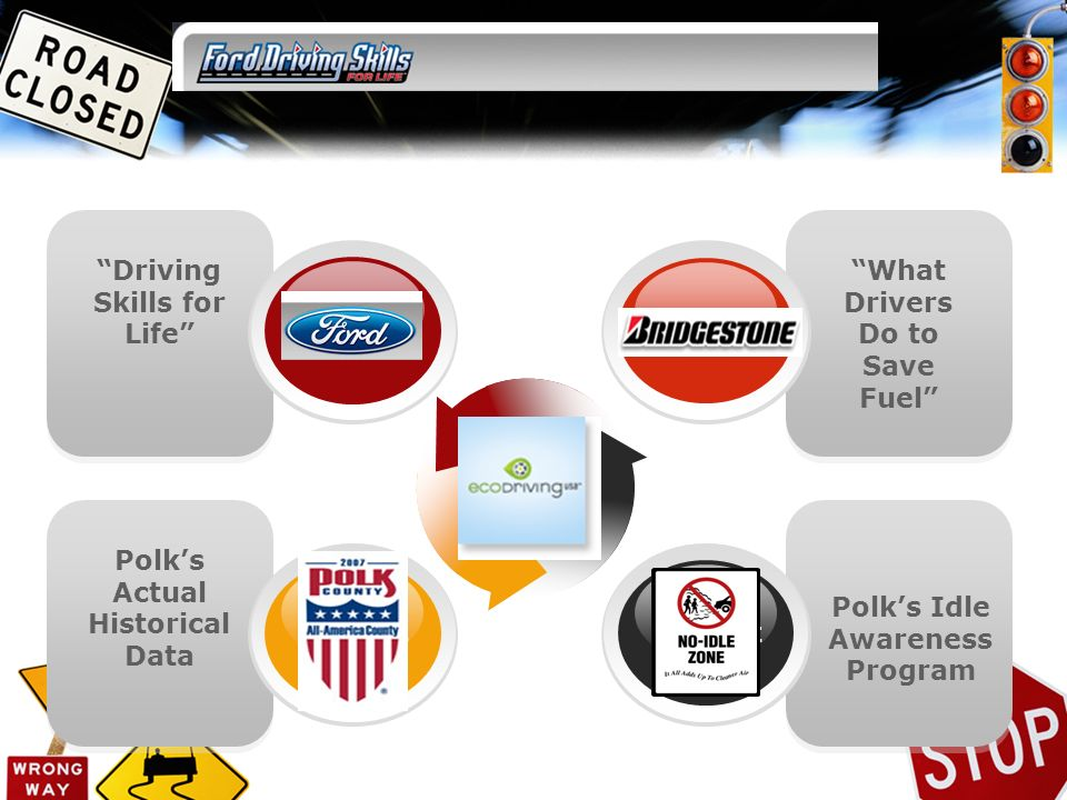 Driving Skills for Life Polks Actual Historical Data What Drivers Do to Save Fuel Polks Idle Awareness Program Concept