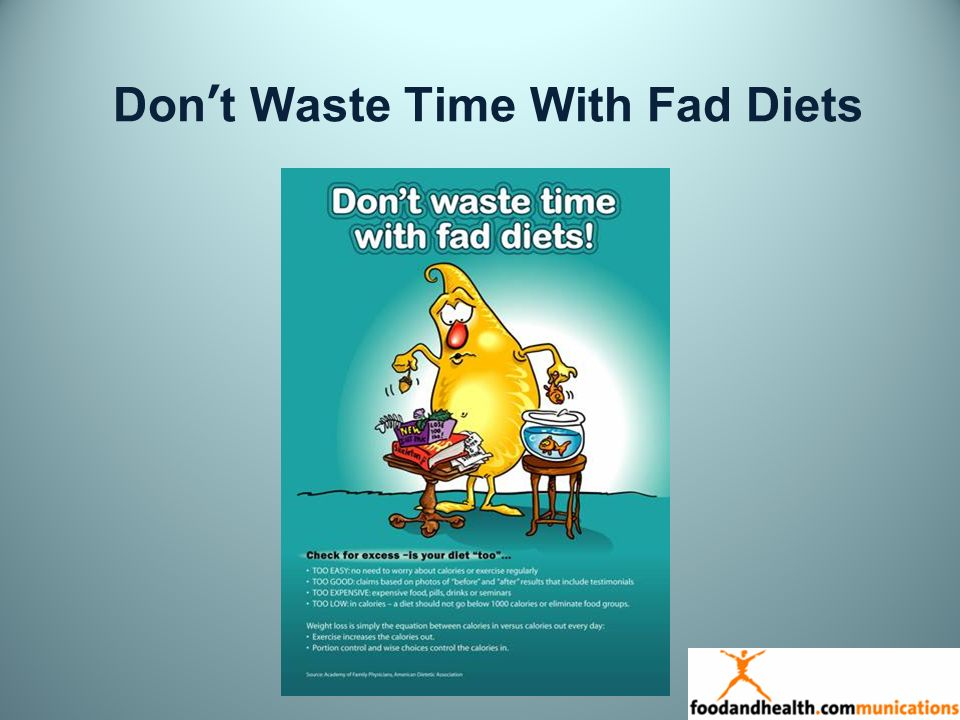 Dont Waste Time With Fad Diets