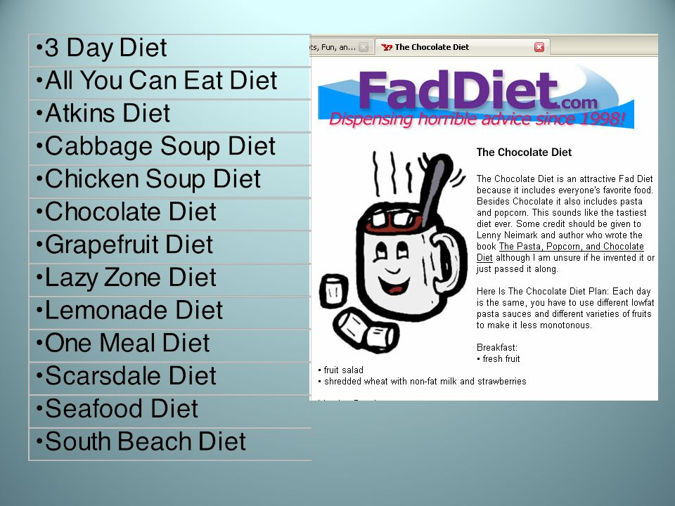 Be Fad Free.Like Rome, healthy habits arent built in a day.