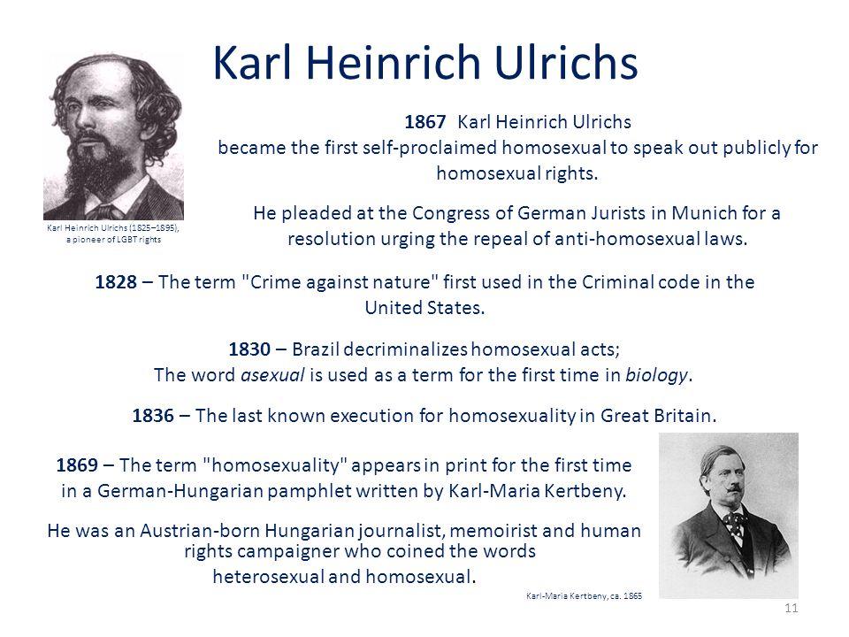 Karl Heinrich Ulrichs 1869 – The term