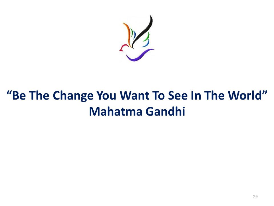 Be The Change You Want To See In The World Mahatma Gandhi 29