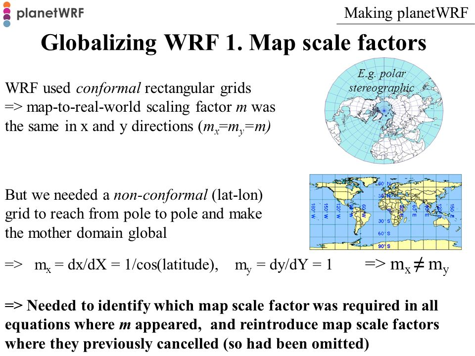 Globalizing WRF 2.