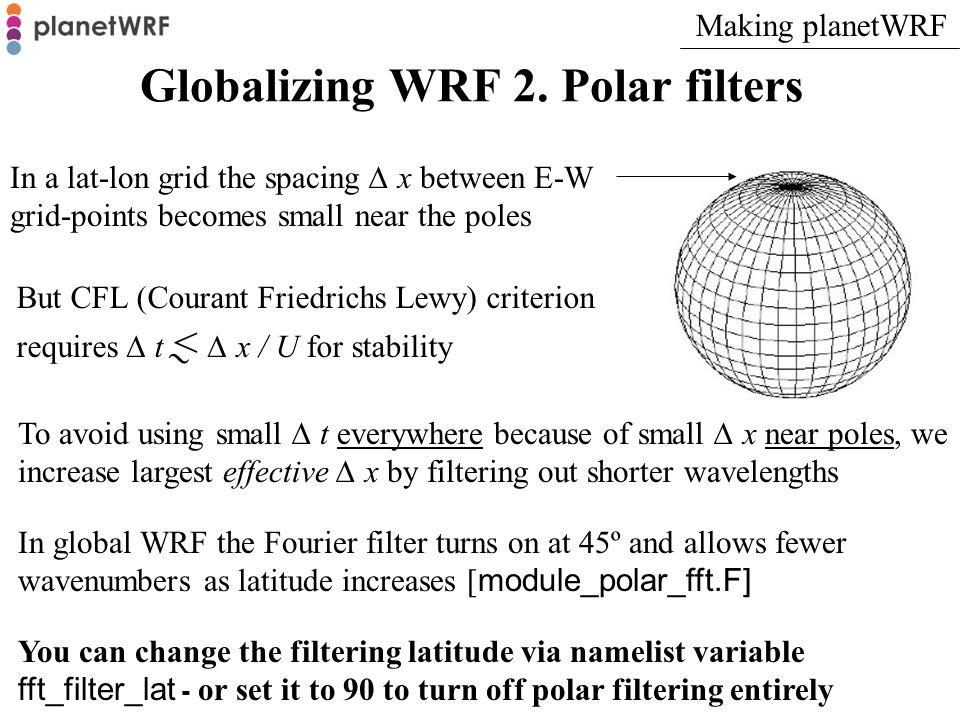 Globalizing WRF 3.