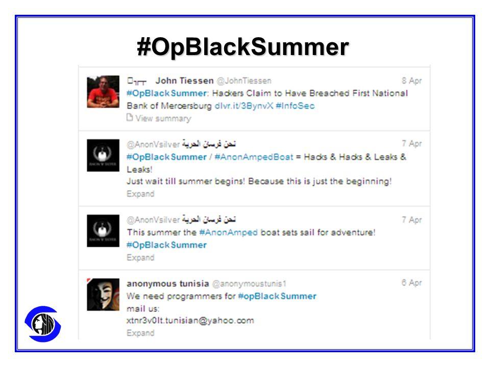 #OpBlackSummer