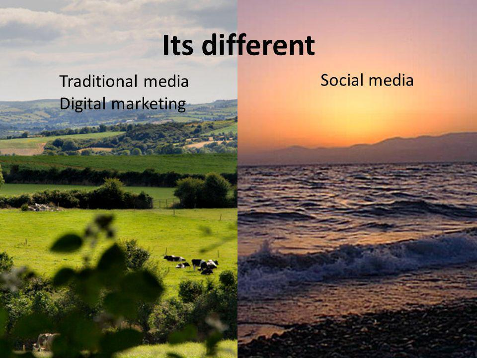 Traditional media Digital marketing Social media Its different