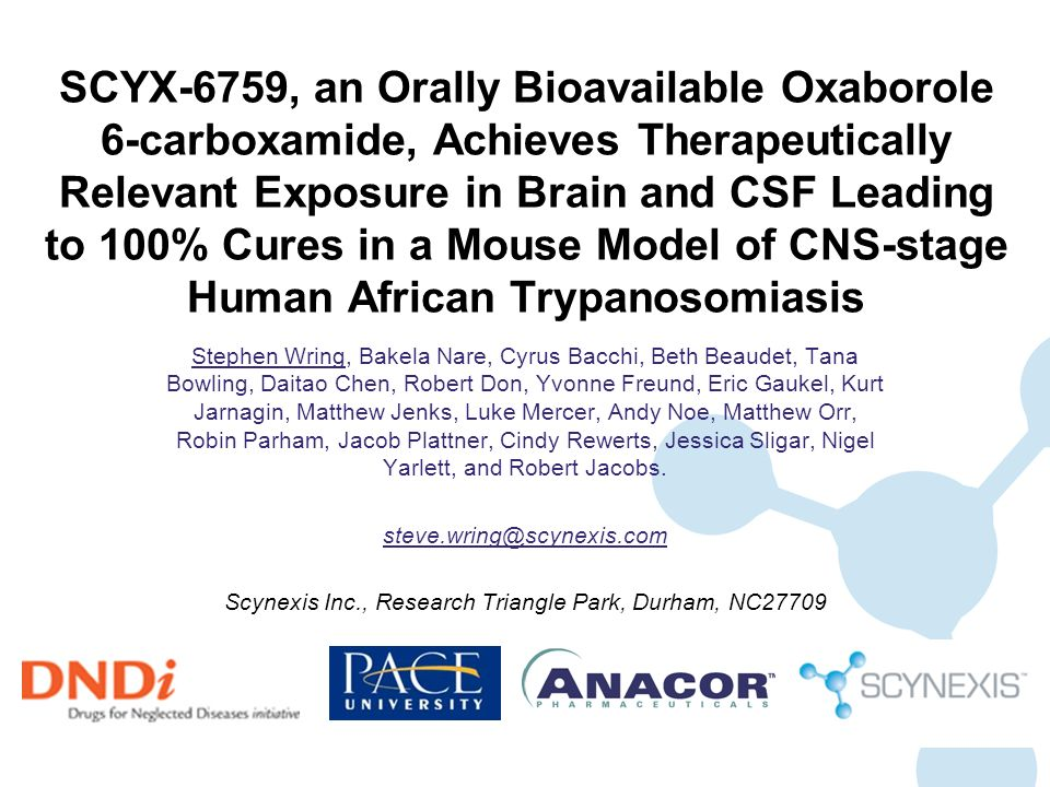 SCYNEXIS Proprietary and Confidential Information Dose Response in Murine Model of CNS HAT ( Day 147 Update) b.i.d.