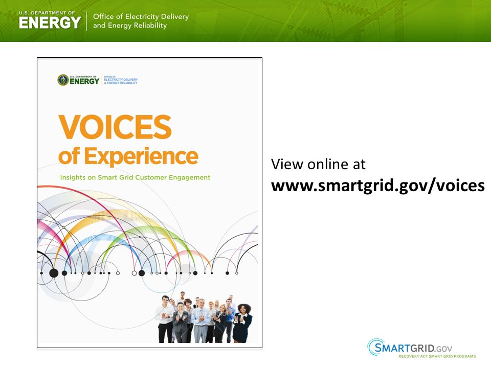 View online at www.smartgrid.gov/voices