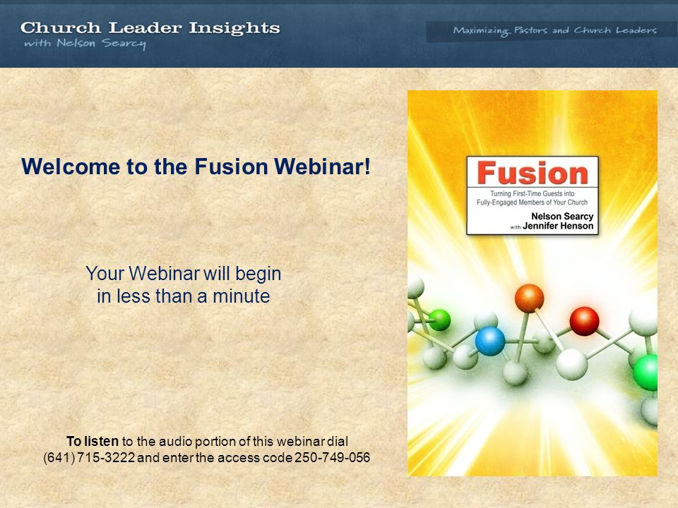 Welcome to the Fusion Webinar.