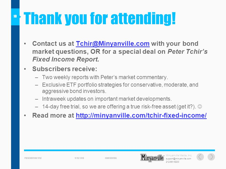 PRESENTATION TITLECONFIDENTIAL support@minyanville.com 2129916200 11/13/2013 Minyanville Media, Inc.
