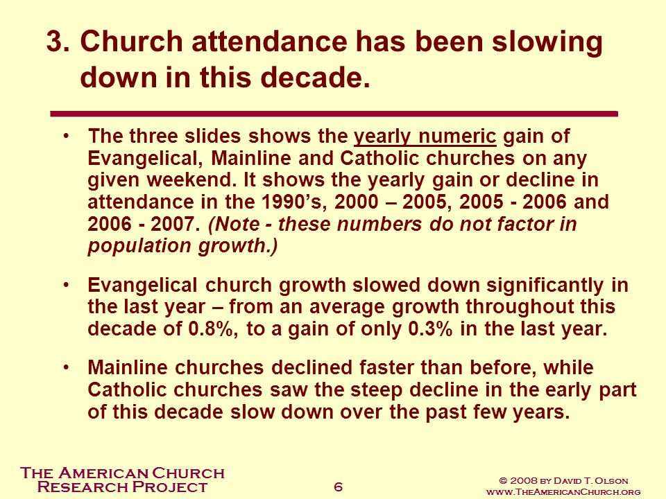 The American Church Research Project © 2008 by David T.