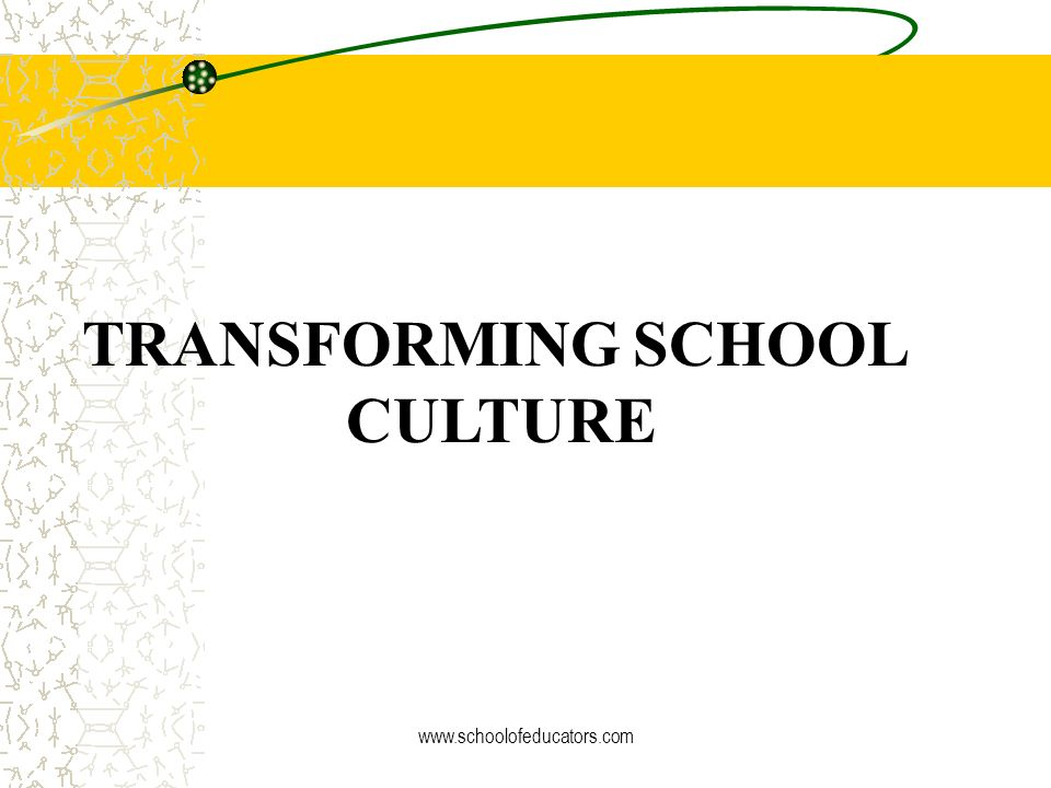 Why Is School Culture Important? What research tells us: Positive learning can only take place in a positive culture. A healthy school culture will af