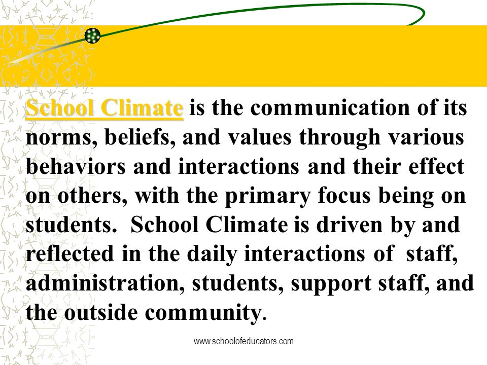 School Culture is often majority driven (staff), intangible, hard to describe, and difficult to positively impact, or change in a systemic way. The at