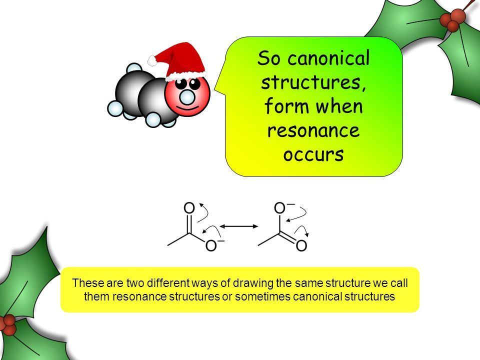 So canonical structures, form when resonance occurs These are two different ways of drawing the same structure we call them resonance structures or sometimes canonical structures