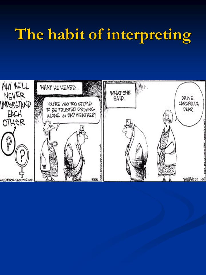 The habit of interpreting