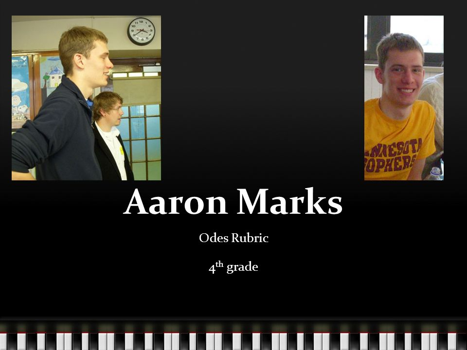 Aaron Marks Odes Rubric 4 th grade