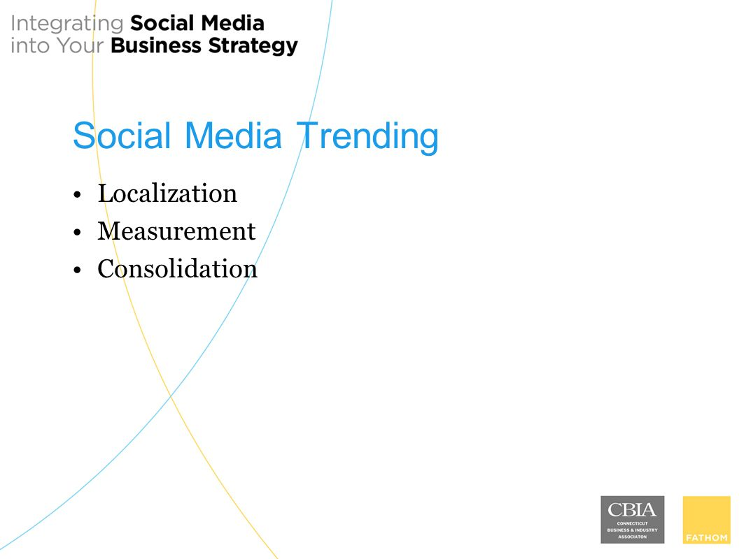 Social Media Trending Localization Measurement Consolidation