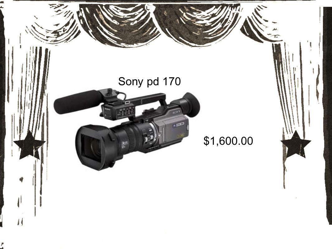 Sony pd 170 $1,600.00