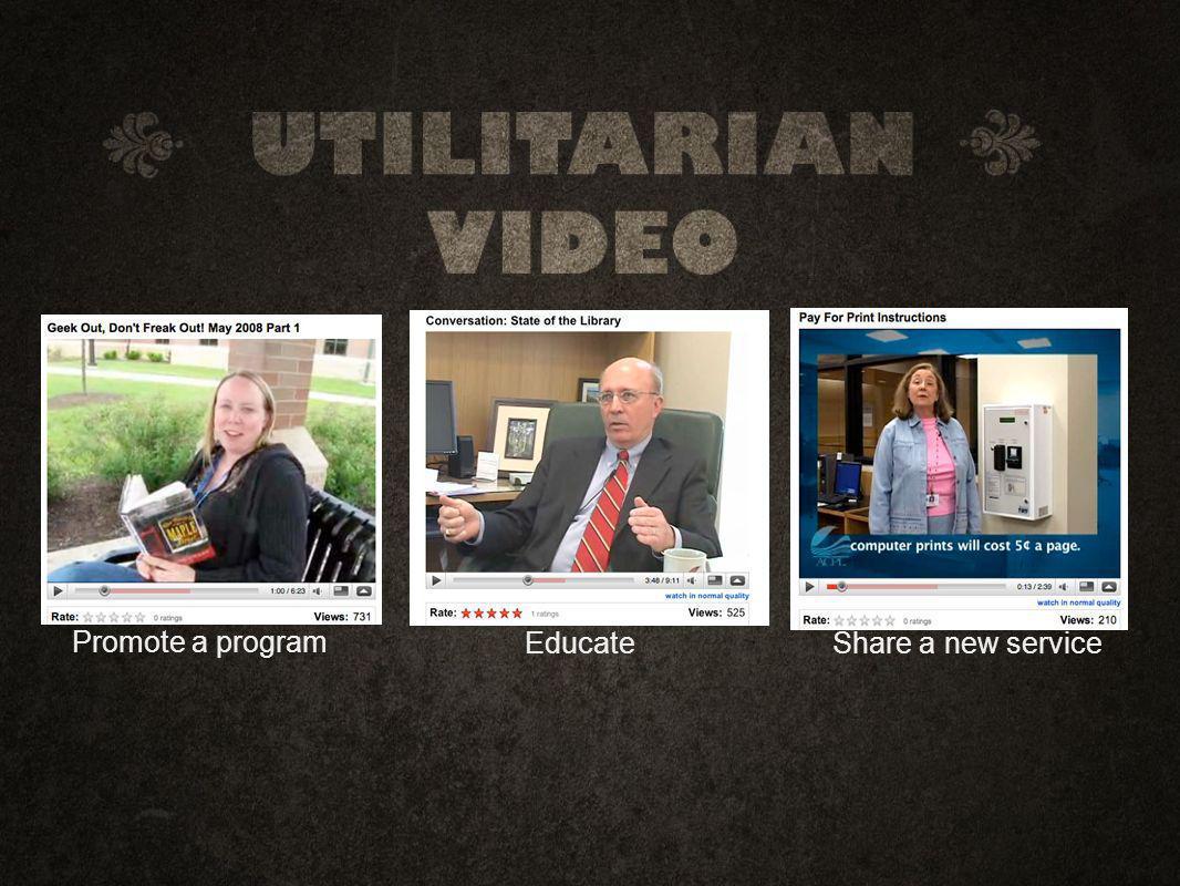 EducateShare a new service Promote a program