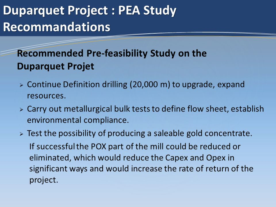 Carry out geotechnical and hydrology studies on the different tailings facilities and major constructions sites.