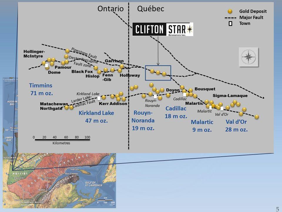 Duparquet- Location-Regional Geology Destor-Porcupine Break Cadillac – Larder Lake Break Rouyn-Noranda