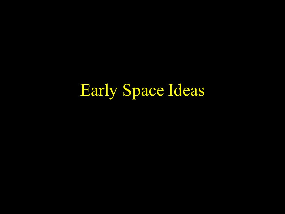 Copyright © 20012 InteractiveScienceLessons.com Early Space Ideas
