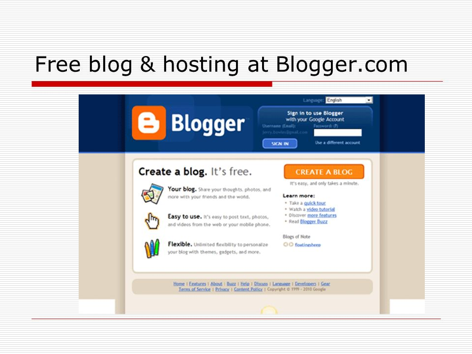 Free blog & hosting at Blogger.com