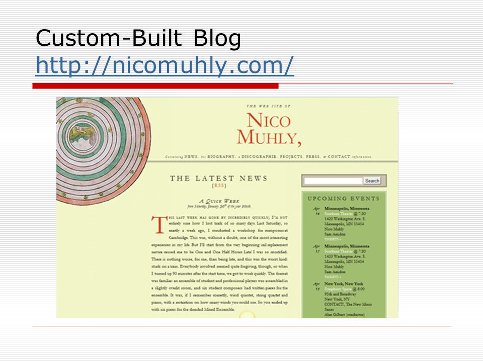 Custom-Built Blog http://nicomuhly.com/ http://nicomuhly.com/