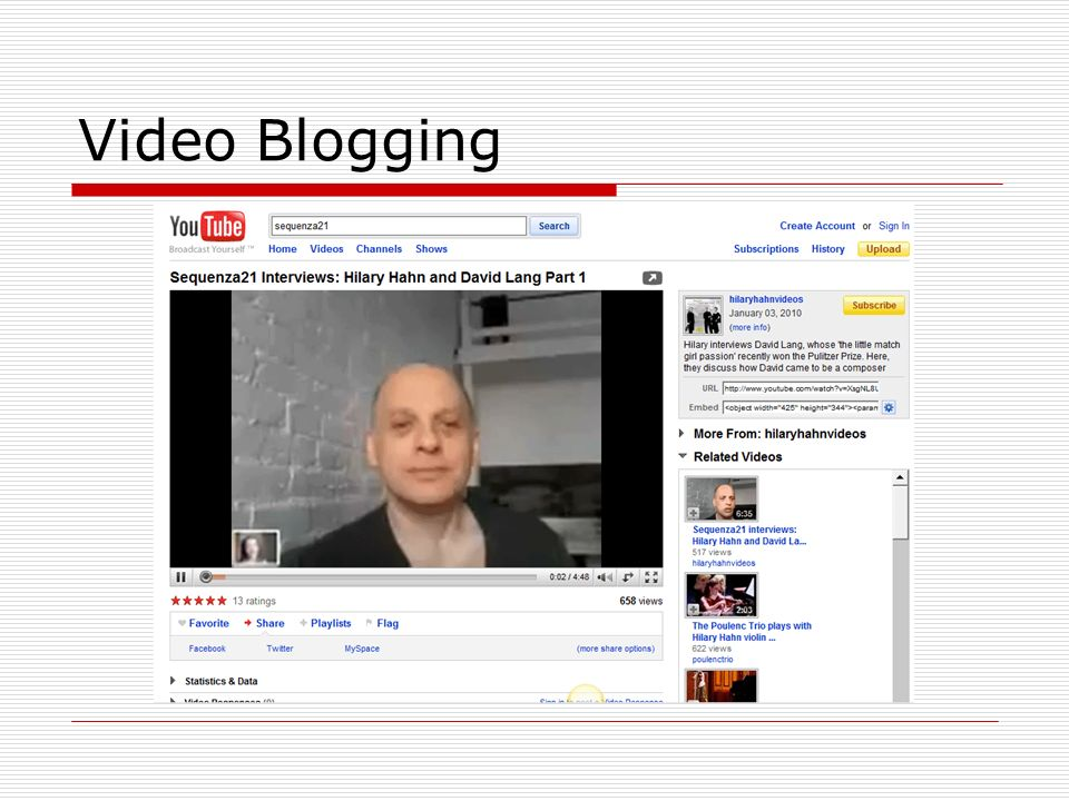 Video Blogging
