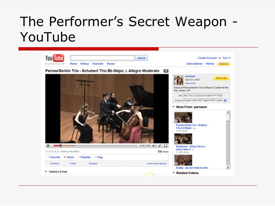 The Performers Secret Weapon - YouTube