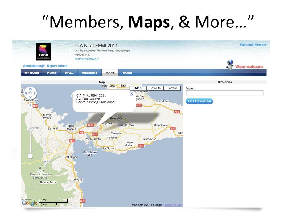Members, Maps, & More…