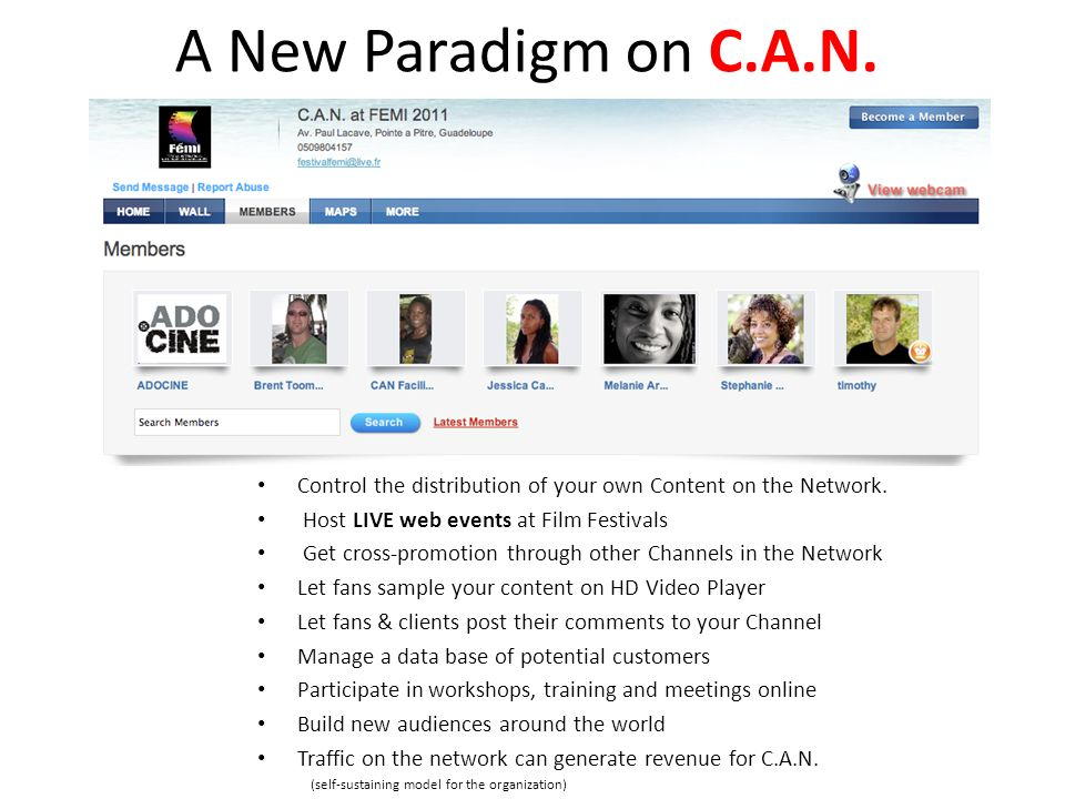 A New Paradigm on C.A.N. Control the distribution of your own Content on the Network.