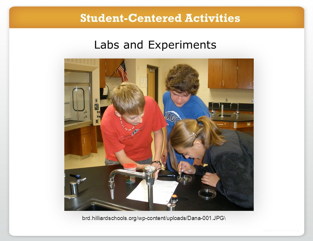 Introduce project in class Students work online to accomplish task Labs and Experiments brd.hilliardschools.org/wp-content/uploads/Dana-001.JPG\ Stude