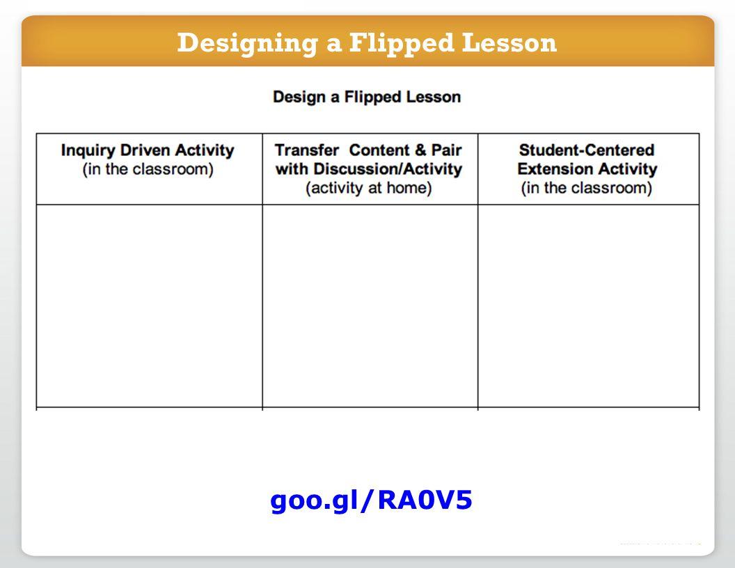 Designing a Flipped Lesson goo.gl/RA0V5