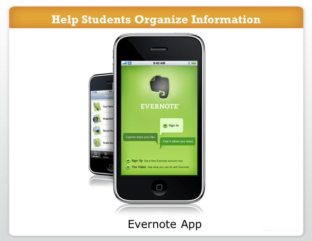 Help Students Organize Information Evernote App Help Students Organize Information