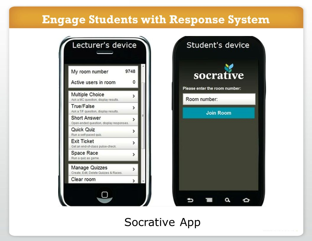 Engage Students with Response System Socrative App Engage Students with Response System