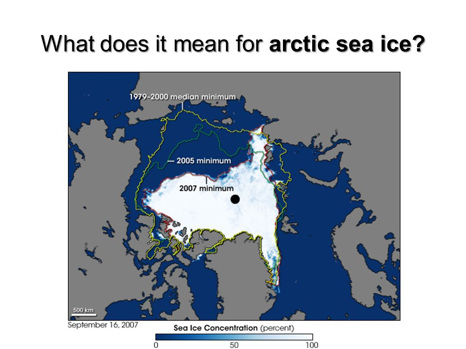 What does it mean for arctic sea ice?