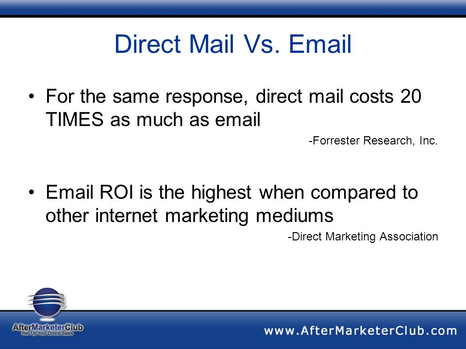 Direct Mail Vs.