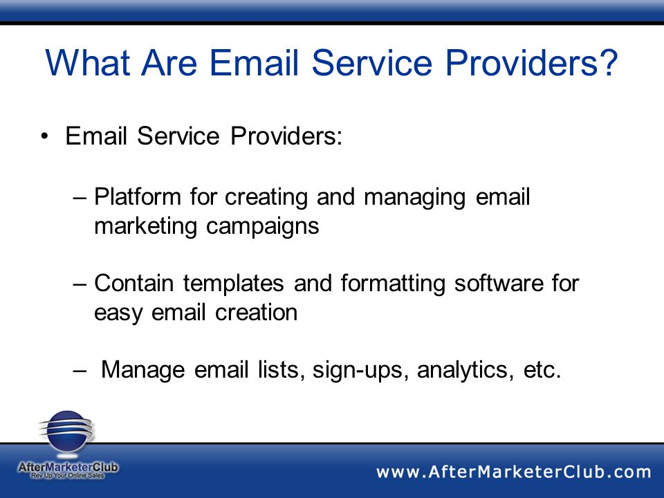 What Are Email Service Providers.