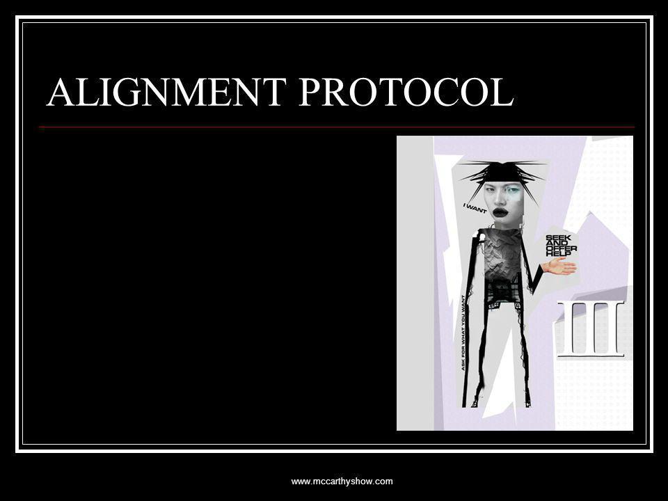 www.mccarthyshow.com ALIGNMENT PROTOCOL