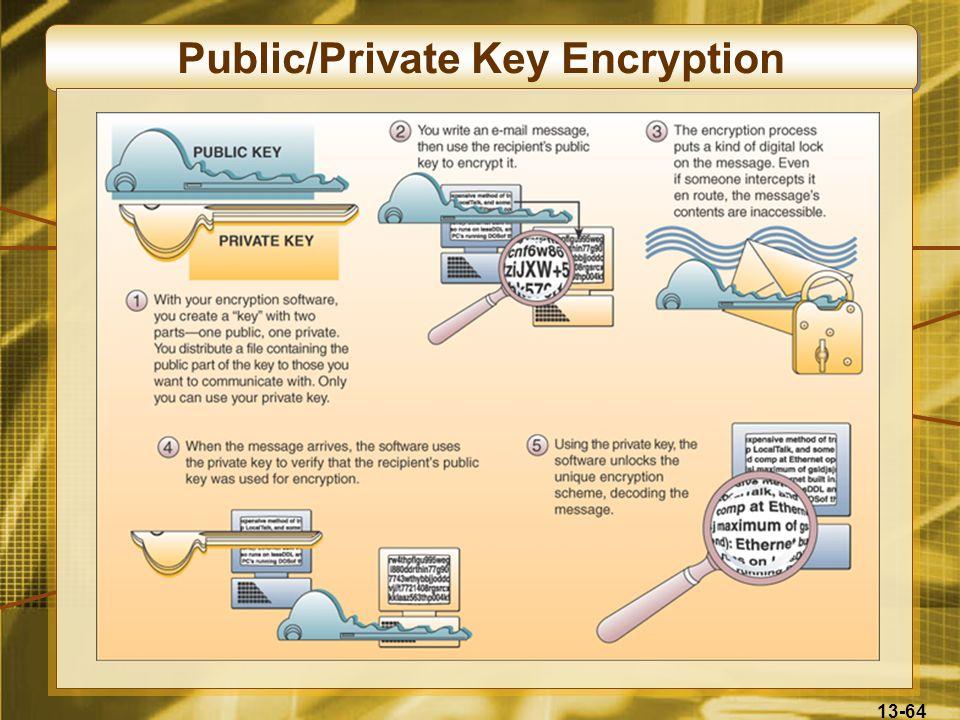 13-64 Public/Private Key Encryption