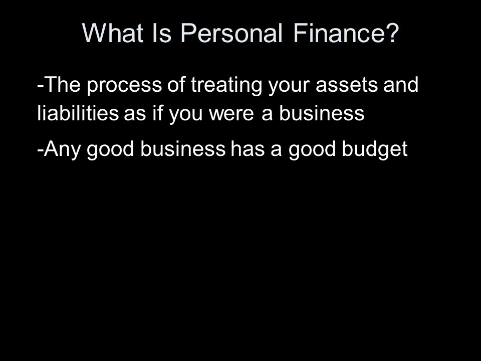 What Is Personal Finance.