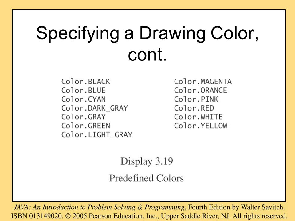 Specifying a Drawing Color, cont.